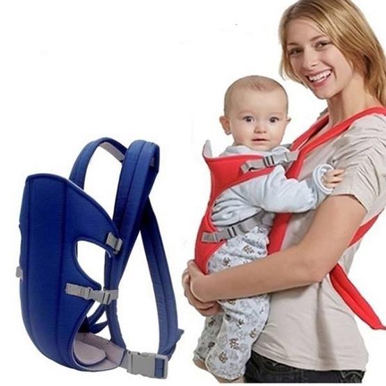 Địu em bé đi chơi địu làm việc nhà từ 3,5 tháng